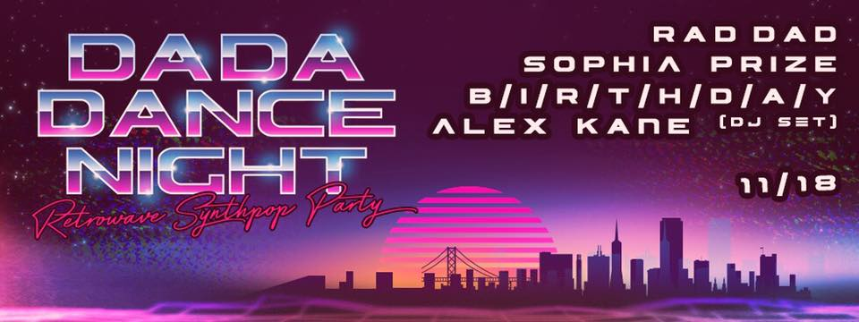 Dada Dance Night: Retrowave and Synthpop Party